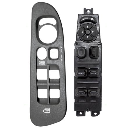 Medium Gray Slate - Drivers Power Front Window Master Switch with Medium Slate Gray Bezel Replacement for Dodge Pickup Truck 5HZ71XDHAE