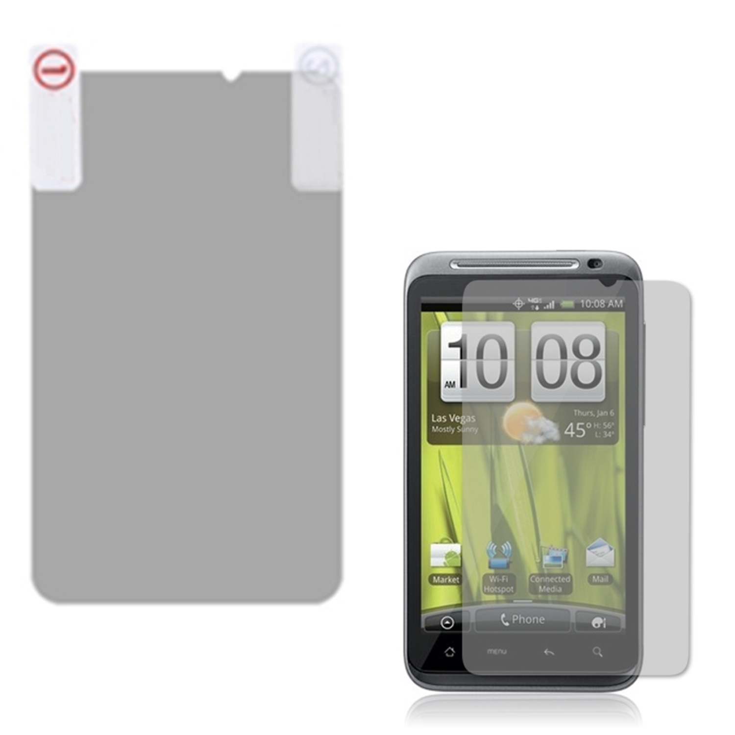 Insten Anti-grease LCD Screen Protector/Clear For HTC ADR6400 Thunderbolt