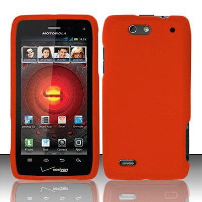 Hard Rubberized Case for Motorola Droid 4 XT894 - Orange ()