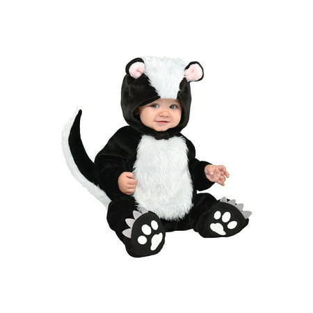Suit Yourself Little Stinker Skunk Costume for Babies, Includes a Soft Jumpsuit, a Hood, and Booties