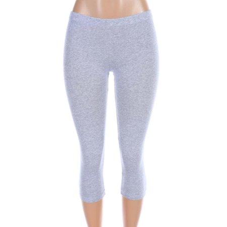 Salt Tree Women's Low Rise Classic Knit Mid Calf Legging Pants Womens Low Rise Sport Pant
