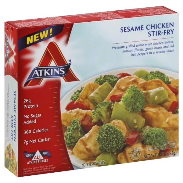 Atkins Stir-Fry Sesame Chicken, 9 oz