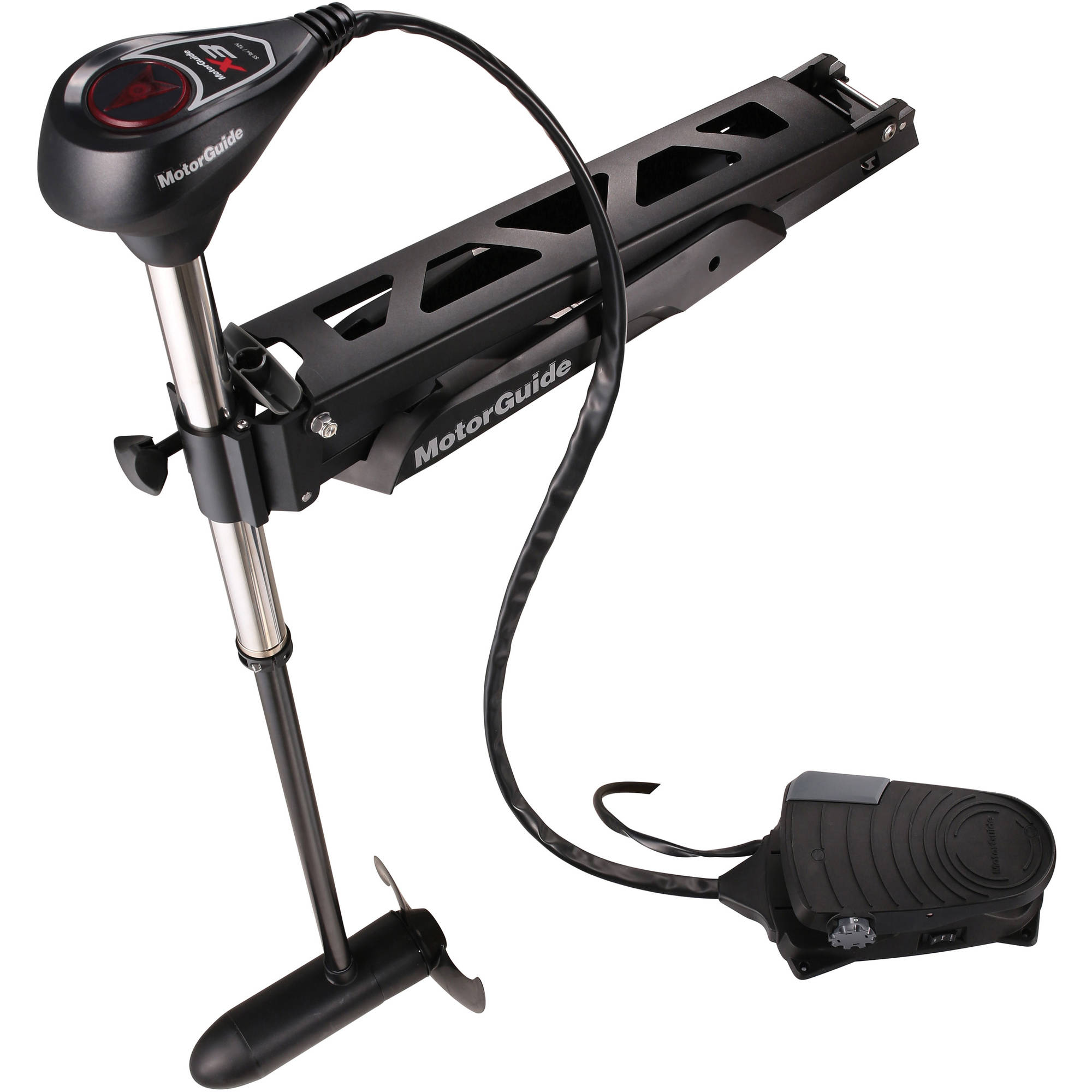 "MotorGuide X3 940200170 12V Foot-Control Bow Mount Freshwater Digital Variable Speed Trolling Motor 45"" Shaft 55 lb Thrust"