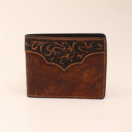 Courvoisier Vs Cognac - 3D Belt DW374 Waxy Crystal Cognac Bi-fold Wallet - 3.62 x 4.50 in.