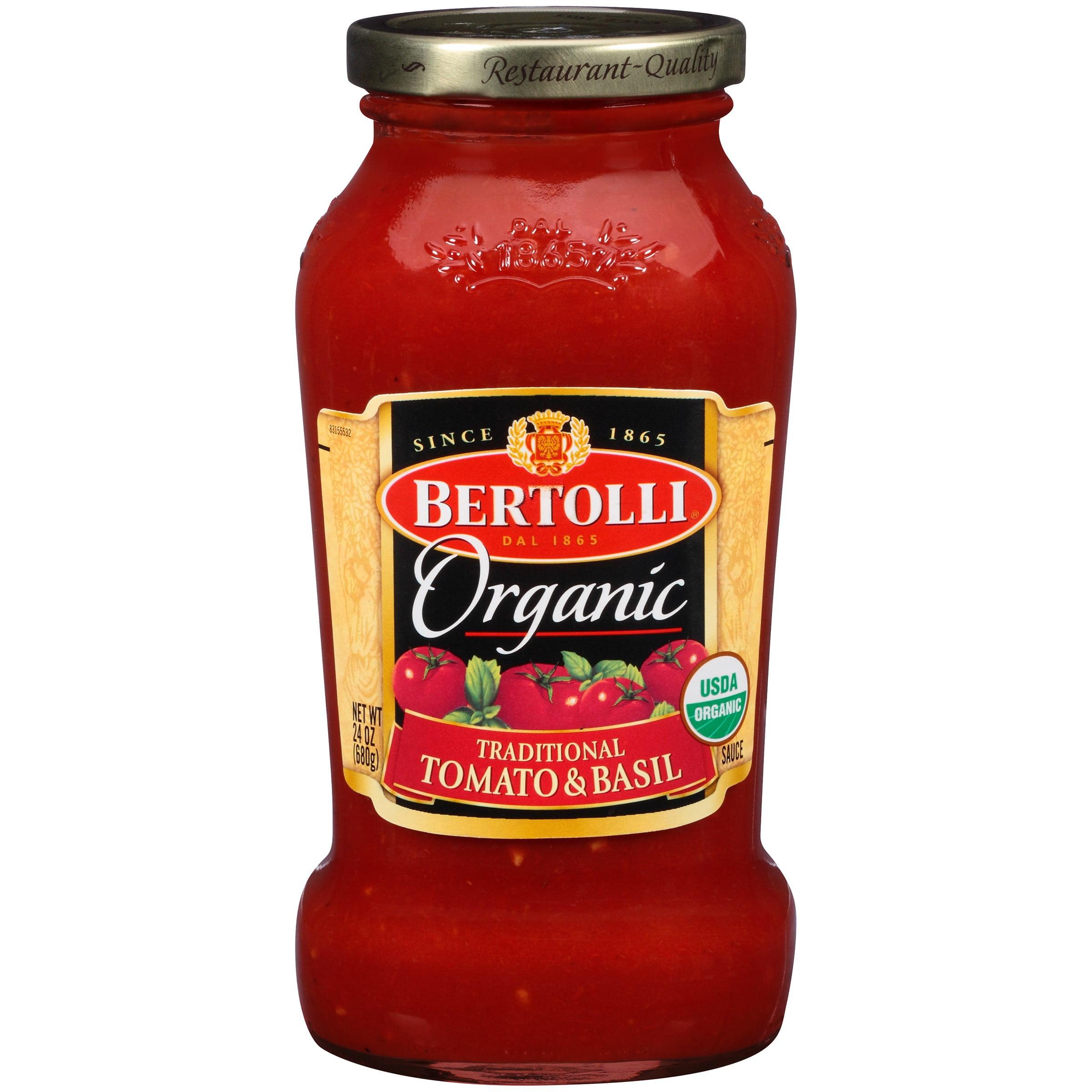 Bertolli Organic Traditional Tomato & Basil Pasta Sauce 24 oz.