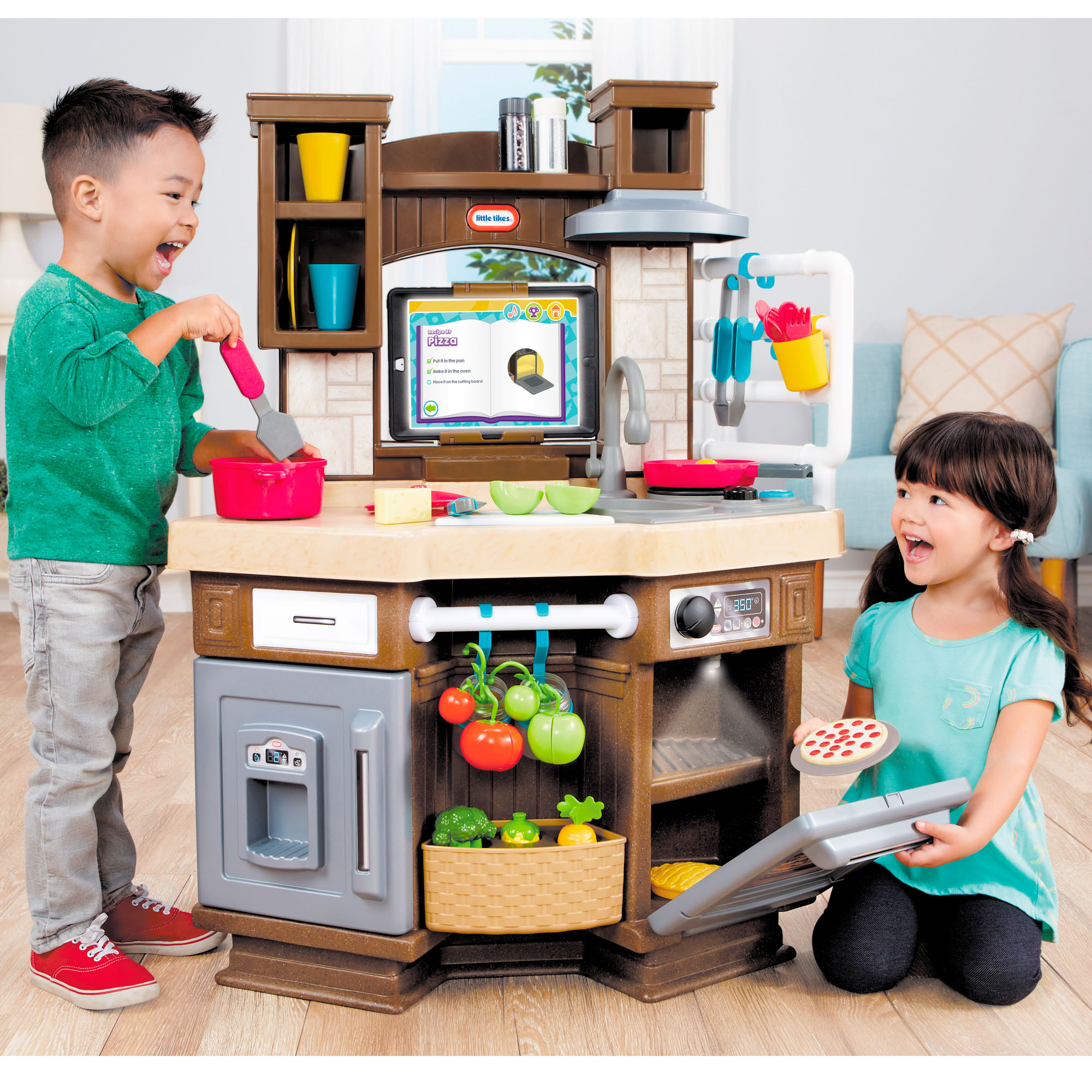 Little Tikes Cook \'n Learn Smart Play Kitchen with 40+ Piece Accessory Set  and 4 Play Modes - Walmart.com