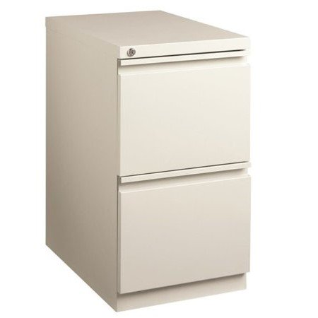 20-inch Deep Mobile Pedestal 2-Drawer File/File Full Width Pull, Light Gray