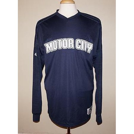 Detroit Pistons Adidas NBA Men's Navy On-Court Authentic Long Sleeve  Shooting Shirt - M