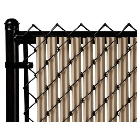 Image of Beige 7ft Ridged Slat for Chain Link Fence