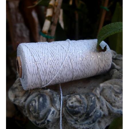 Quasimoon Metallic Silver Bakers Twine Decorative Craft String (110 Yards) by PaperLanternStore](Baker's Twine)