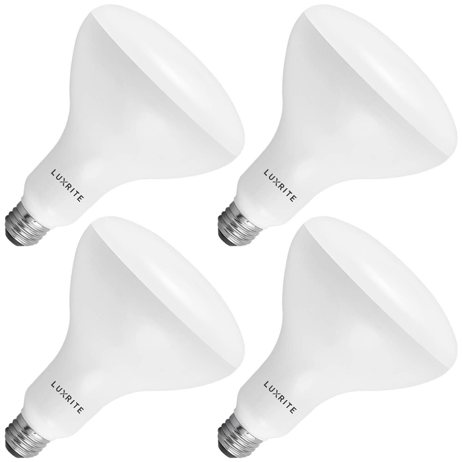 Indoor//Outdoor Perfect for Office and Recessed Lighting E26 Medium Base LED Flood Light Bulb 1100 Lumen 10 Pack Luxrite BR40 LED Light Bulb Dimmable 6500K Daylight White 14W 85W Equivalent