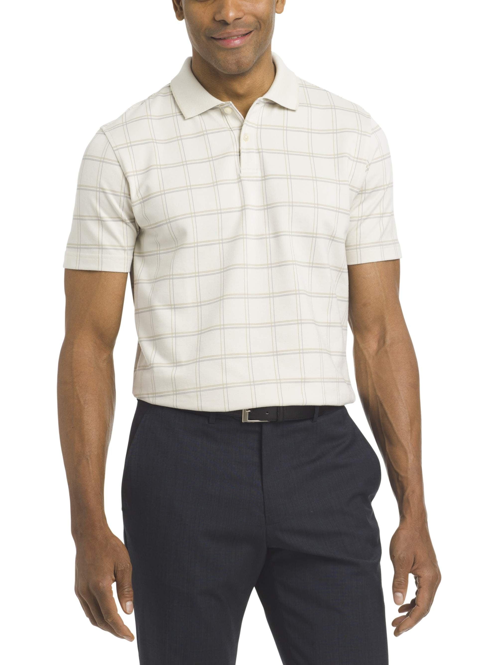 Choose SZ//Color Van Heusen Men/'s Big and Tall Printed Windowpane Polo Shirt