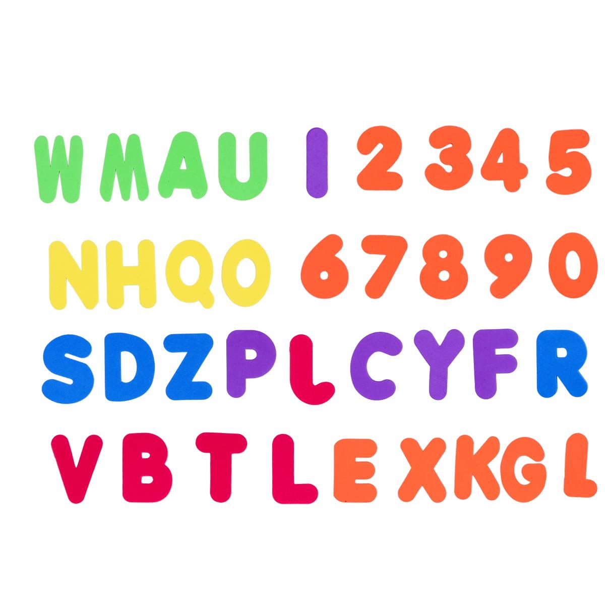 36 Pcs Set Foam Bath Alphabet Letters and Numbers Bath Toy Organizer Non Toxic EVA Foam... by