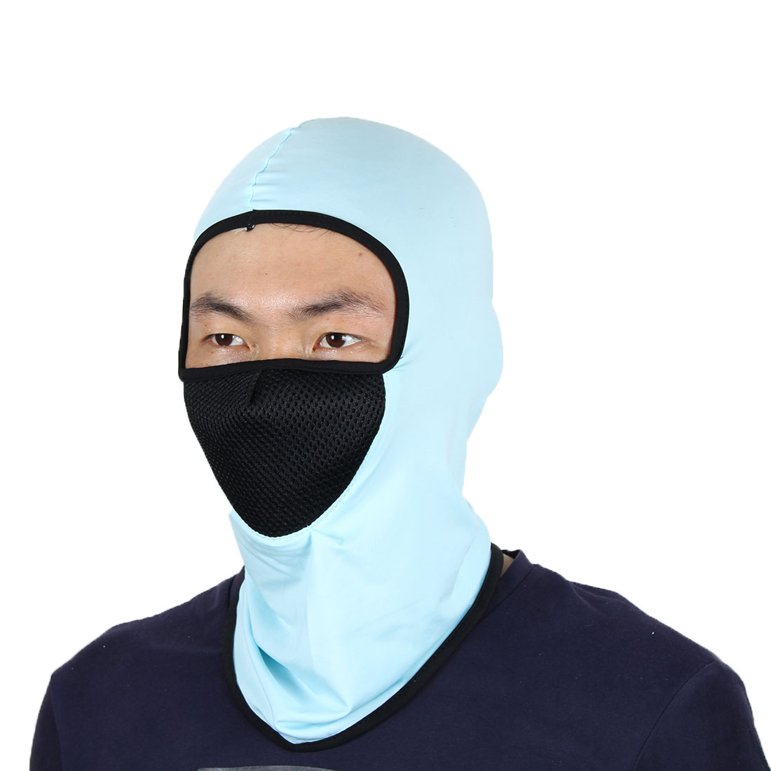 Full Face Mask Outdoor Sports Cycling Neck Protector Hat Helmet Balaclava Blue by Unique-Bargains