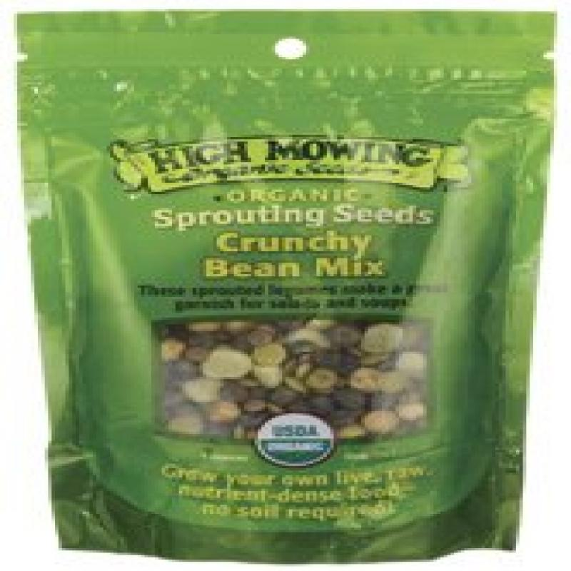 High Mowing Organic Sprouting Seeds Crunchy Bean Mix -- 4 oz by