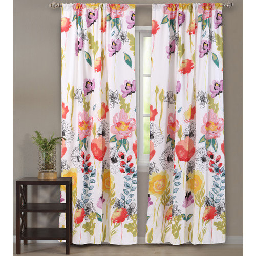 Greenland Home Fashions Watercolor Dream Curtain Drape Panel Set