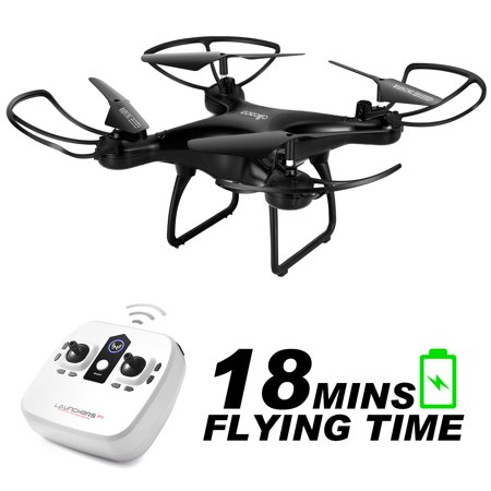 ALLCACA S28W RC Drone 2.4Ghz 6-Axis Gyro 4CH Remote Control Quadcopter with 18 Mins Super Long Flight and Altitude Hold, 3D Flips, Headless Mode, One Key Return for Kids & Beginners (without