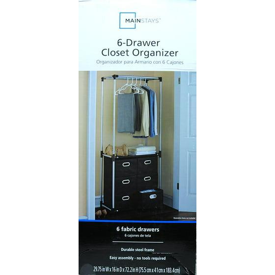 organizer closet ip drawers com mainstays in black drawer walmart