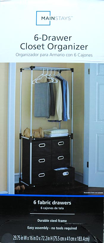 Mainstays 6 Drawer Closet Organizer, Black   Walmart.com