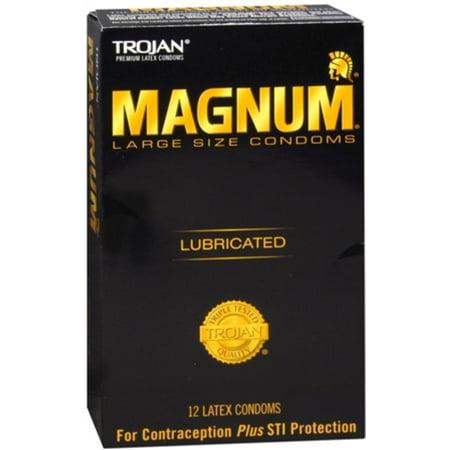 TROJAN Magnum Large Size Lubricated Premium Latex Condoms 12 - Trojan Sizing Chart