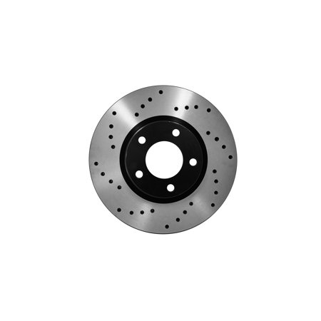 [Front Cross Drilled Coated Brake Rotors Ceramic Pads] Fit 2004 Nissan Maxima - image 2 of 2