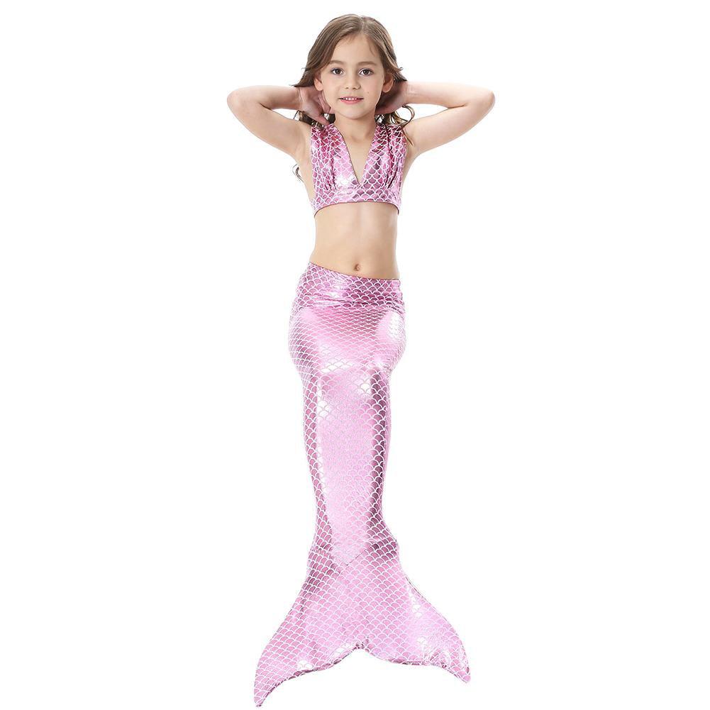 Hurrise Girls Mermaid Swimming Suitlittle Girls 3 Pcs Mermaid