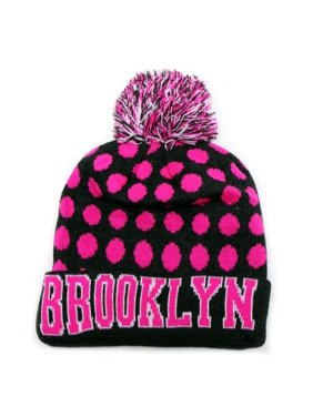 fd778197850 Product Image City Hunter Sk1150 Brooklyn Dots Knit Beanie Hats (Dark Grey  neon Pink)