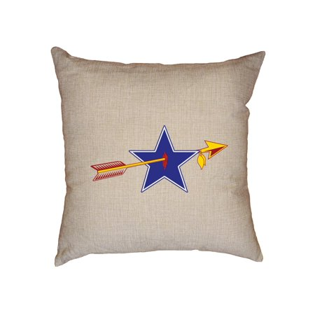 Classic Redskin vs Cowboy Rivalry Game Decorative Linen Throw Cushion Pillow Case with Insert - Redskin Vs Cowboys