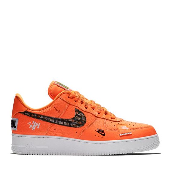 83e4a45d51acf0 Mens Nike Air Force 1 Low  07 Premium Just Do It Total Orange Black ...