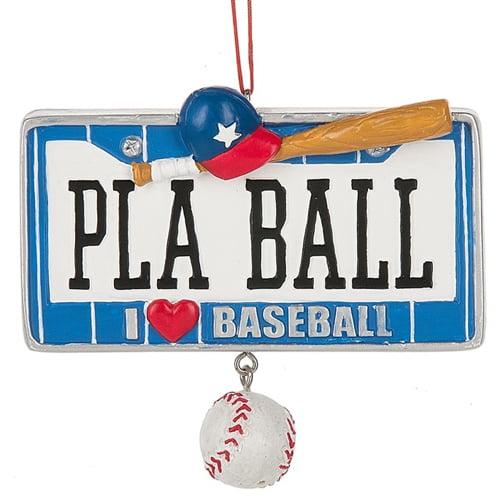 Baseball License Ornament