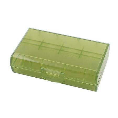 Plastic Hard Case Holder (72mmx44mmx22mm hard plastic battery storage case holder organizer green)