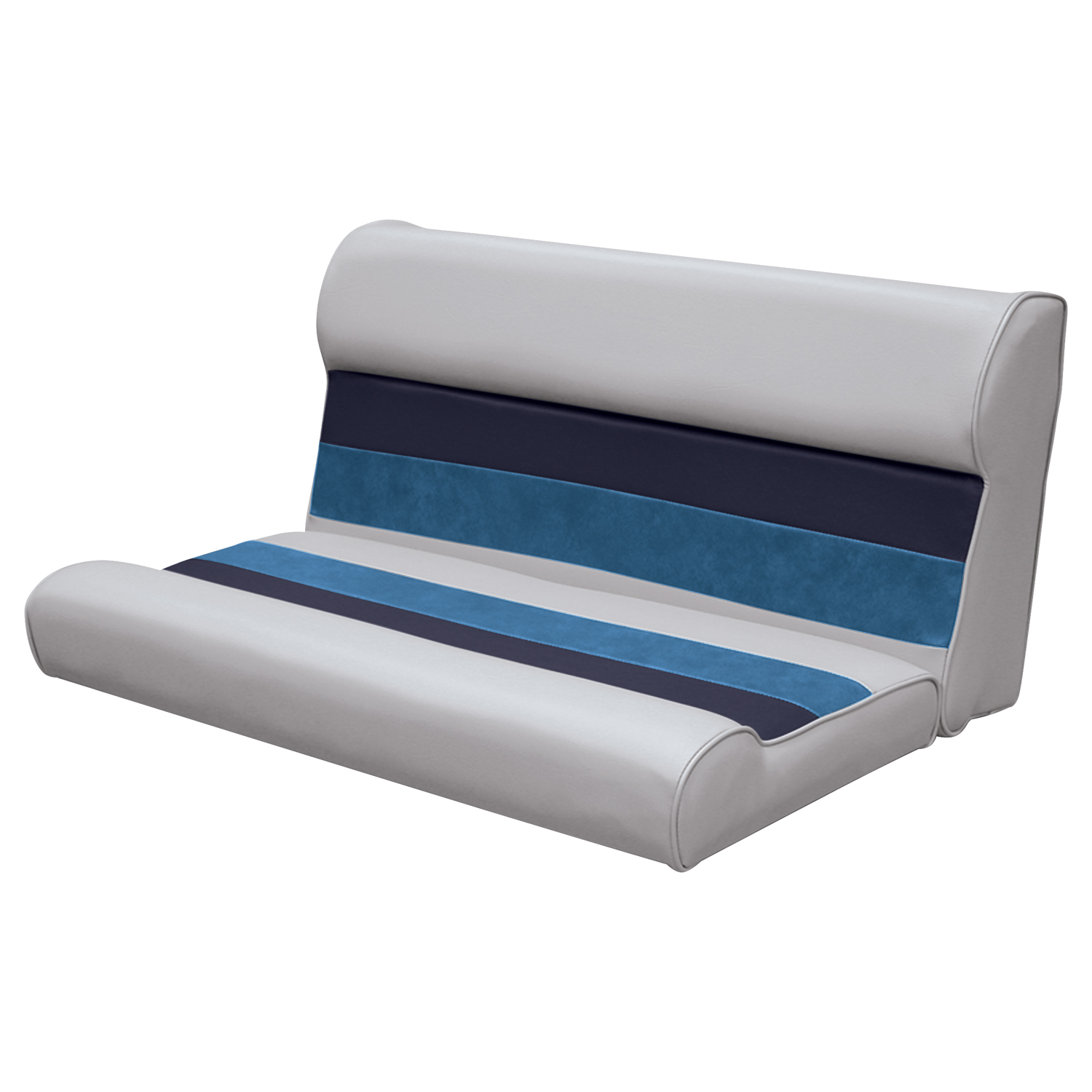 """Wise 8WD100-1009 Deluxe Series Pontoon 37"""" Bench Seat and Backrest Cushion Set Only, Color: White/Red/Charcoal"""