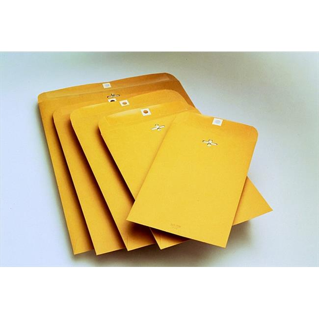School Smart 085056 12 x 15.5 In. Durable Heavy Weight Clasp Envelope With Gummed Flap Closure, Kraft, Pack - 100