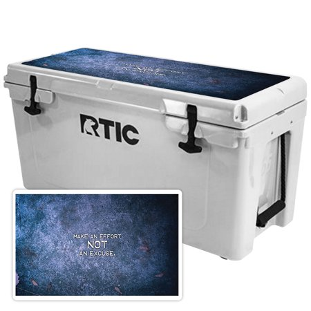 Skin for RTIC 65 Cooler Lid (2017 Model) - Make An Effort| MightySkins Protective, Durable, and Unique Vinyl Decal wrap cover  | Easy To Apply, Remove, and Change Styles | Made in the USA
