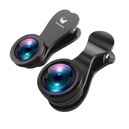 - OldShark Phone Camera Lens Kits 15X Macro Lens 0.35X Wide Angle Lens 180 Degree Fisheye Lens with Rotate Clip for iPhone 7/7Pus/6s/6 Most Smartphones Gift