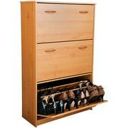 Venture Horizon Shoe Cabinet, Triple, Oak