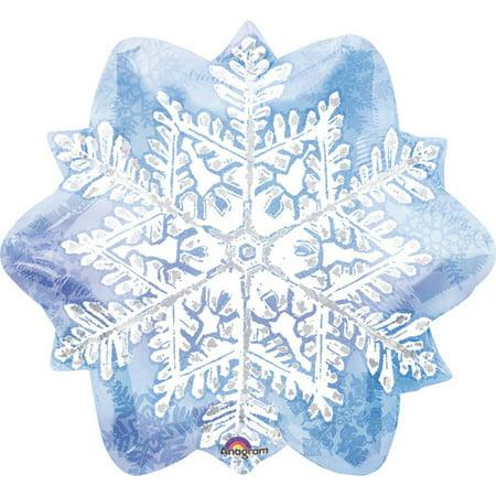 Let it Snow Snowflake Foil Balloon](Snowflake Balloons)