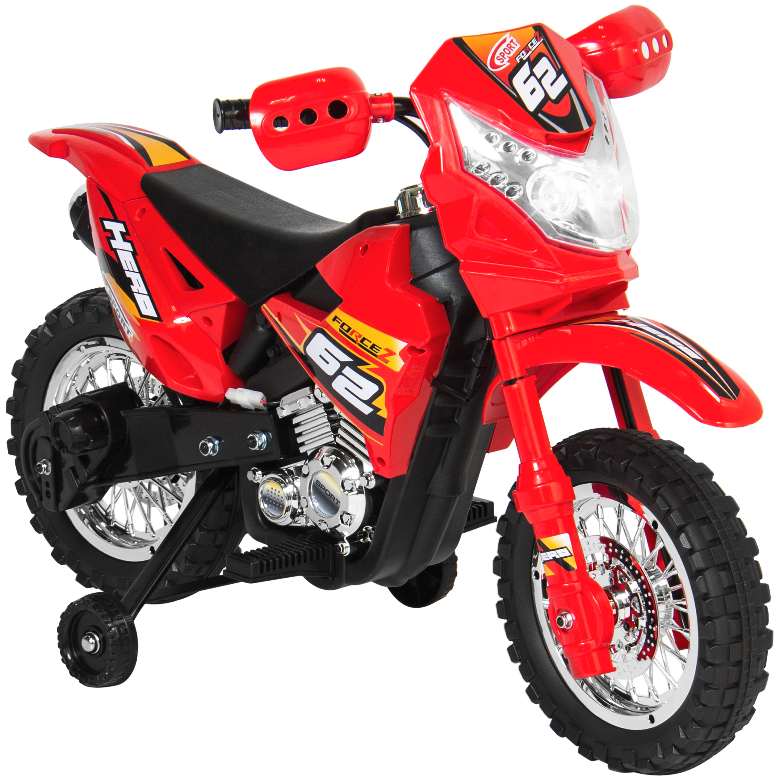 Best Choice Products 6V Electric Kids Ride On Motorcycle Dirt Bike w  Training Wheels Red by Best Choice Products