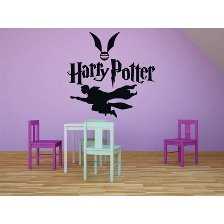 Wings With Flying Harry Potter Character Films Movies Books Series Art Design Silhouette Peel & Stick Custom Wall Decal Vinyl Sticker 12 Inches X 12 Inches ()
