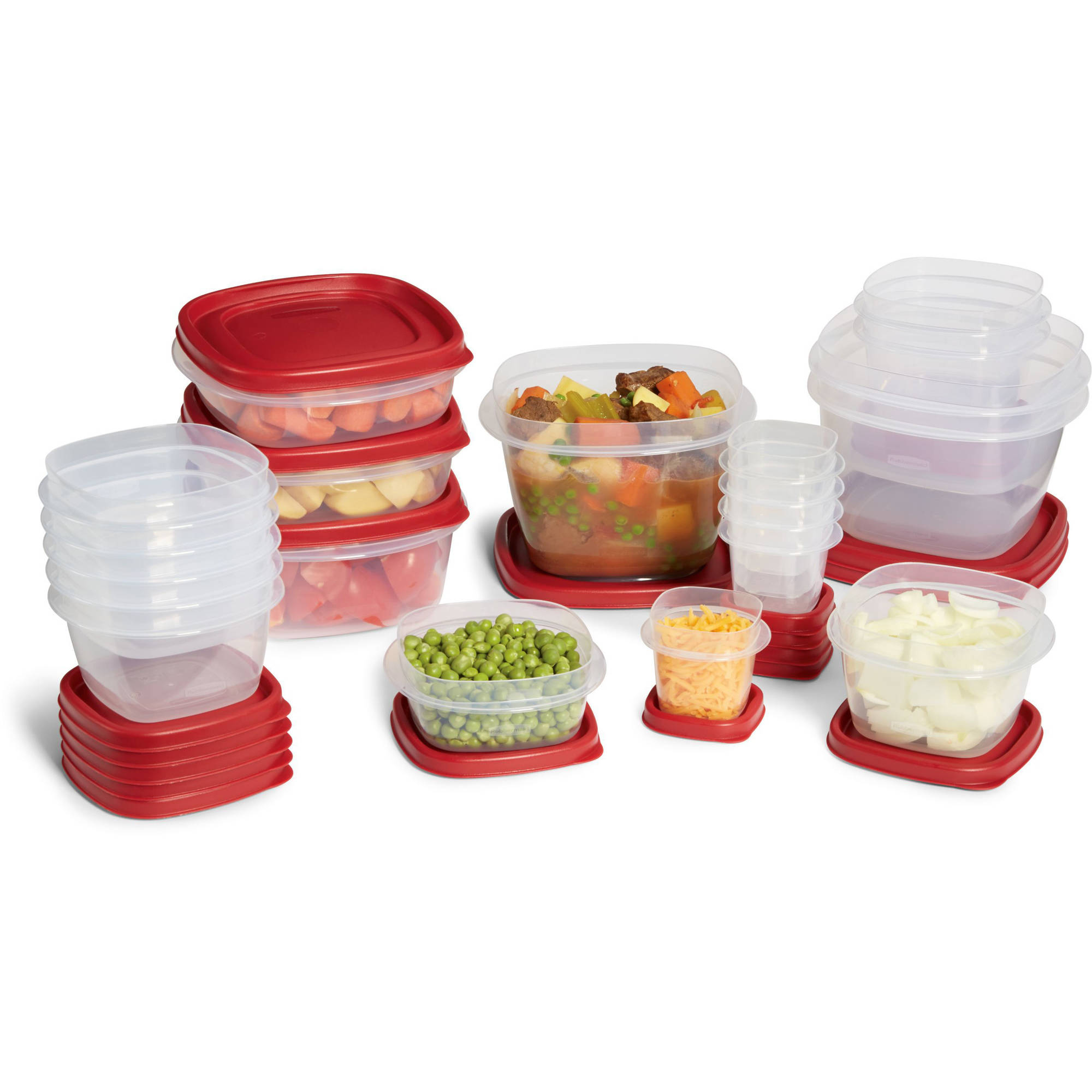 Rubbermaid Easy Find Lids Food Storage Container 40-Piece Set Red - Walmart.com  sc 1 st  Walmart.com & Rubbermaid Easy Find Lids Food Storage Container 40-Piece Set Red ...