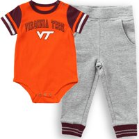 Virginia Tech Hokies Colosseum Infant Flavio Bodysuit and Pants Set - Orange/Heathered Gray