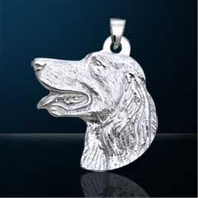 Plum Island Silver P-012652 Nebula Tech Metal Golden Retriever Pendant