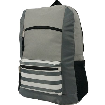 Contrast Backpack 18 School Book Bag Daypack Grey - Deadpool Book Bag