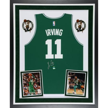 Kyrie Irving Boston Celtics Deluxe Framed Autographed Fanatics FastBreak Green Jersey - Panini Authentic - No Size Autographed Boston Celtics Green