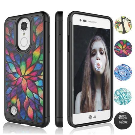 purchase cheap 72f4b 70566 LG LV3 Case, LG Phoenix 3 Cover, LG Aristo Case For Girls, LG Fortune Case,  LG K8 2017 Case, Njjex Lovely Bling Crystal Studded Rhinestone Rubber ...