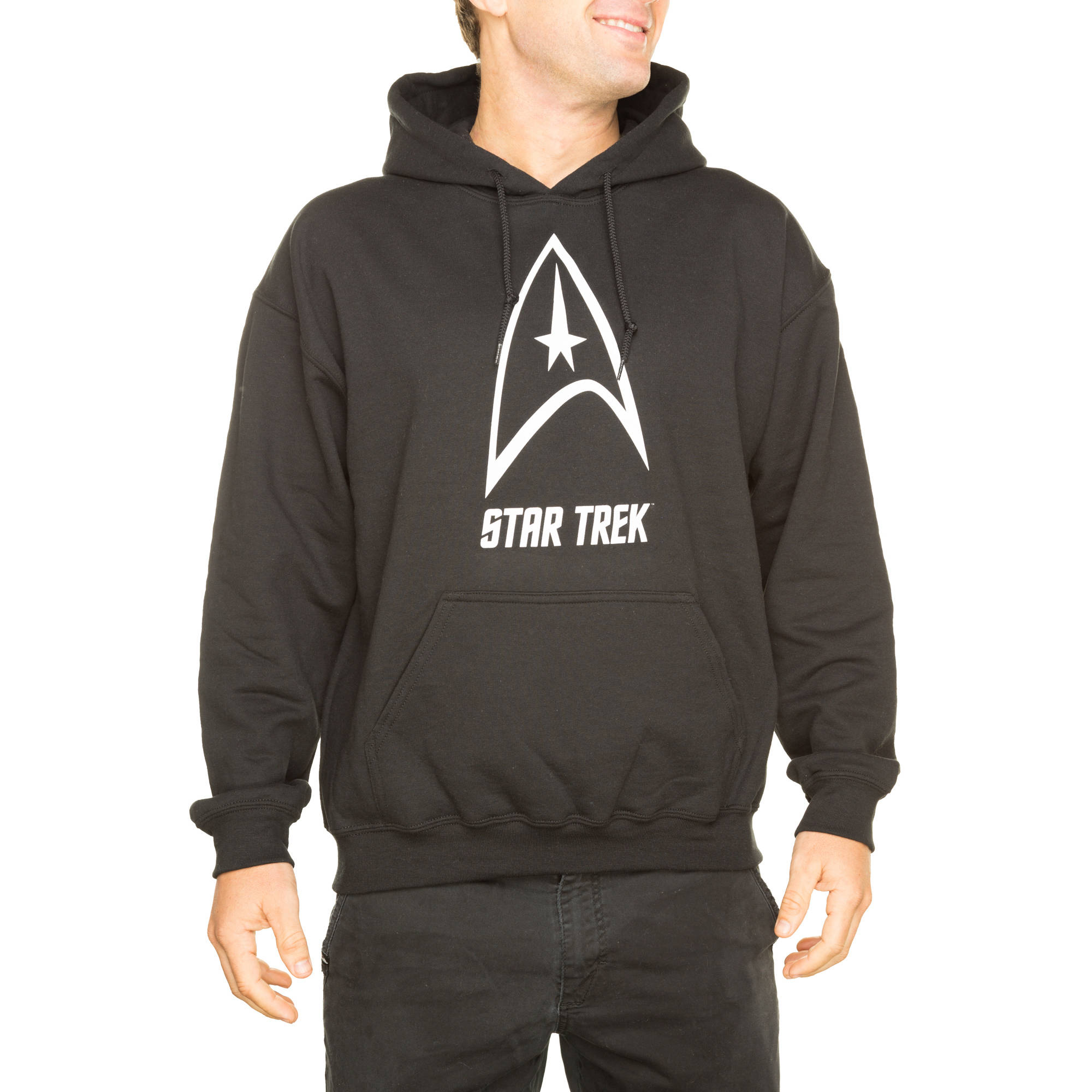 Star Trek Big Men's Delta Shield Pullover Fleece Hoodie, 2XL