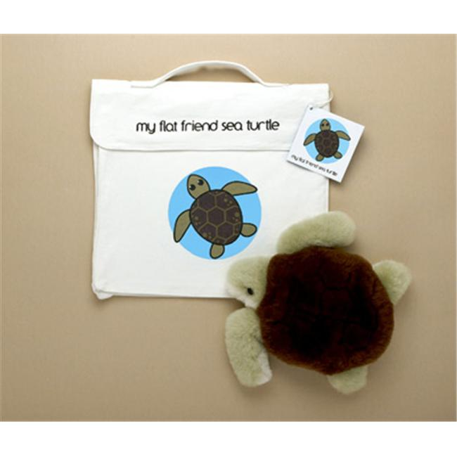Flat Friends STURLC Sea Turtle Soft Plush Toy And Carry Bag