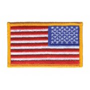 """Heros Pride Rayon/Polyester Embroidered Patch 3-3/8"""" x 2"""" Rayon/Polyester 0038"""
