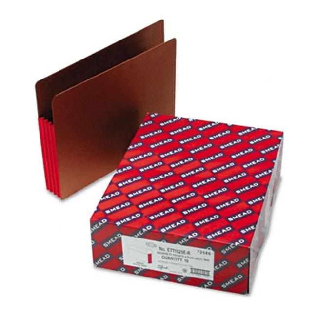 Smead 3 1/2 in Expansion File Pockets with Tyvek Straight Letter /Redrope 10/Box