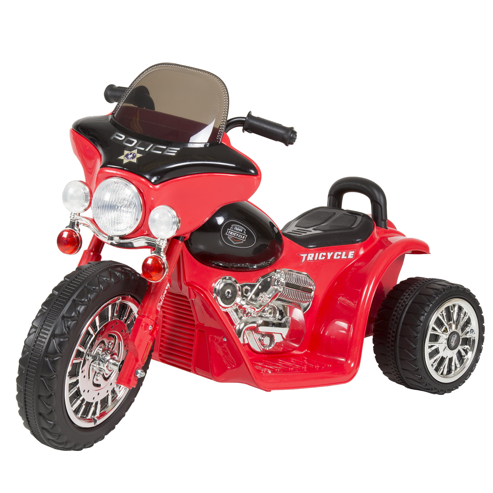 Ride on Toy, 3 Wheel Mini Motorcycle Trike for Kids, Battery Powered Toy by Hey! Play!... by Trademark Global LLC